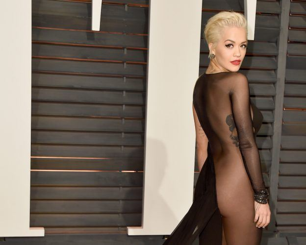 Singer and actress Rita Ora at the 2015 Vanity Fair Oscar Party Hosted By Graydon Carter.