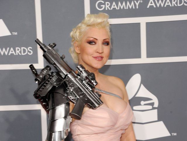 Singer Sasha Gradiva arrives at the 54th Annual GRAMMY Awards held at Staples Center on February 12, 2012 in Los Angeles, California.