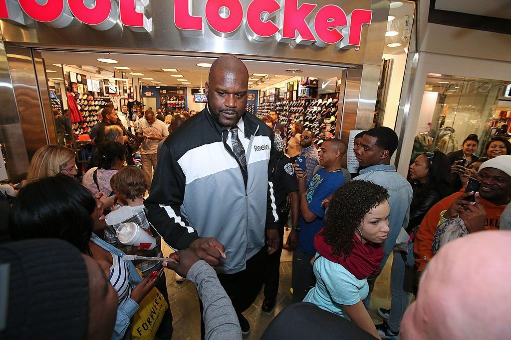 Shaquille O'Neal at Foot Locker