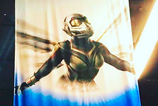 A woman wears an armored outfit in Ant-Man and the Wasp