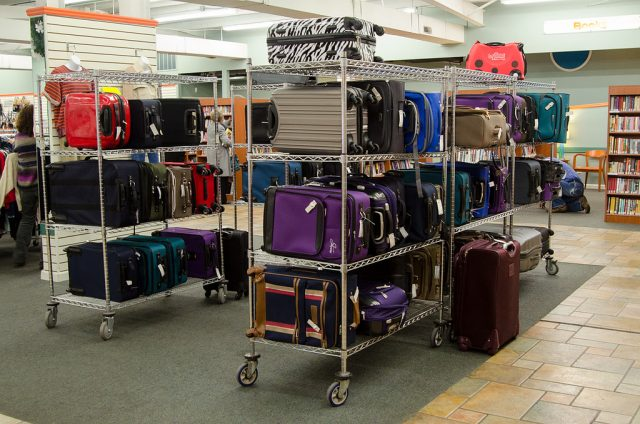 suitcases for sale at Unclaimed Baggage Center