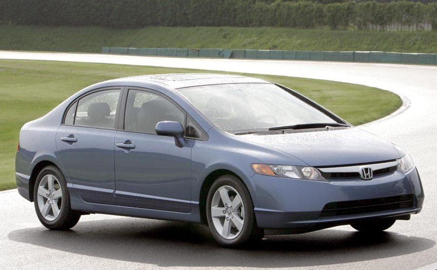 Passenger-side front three-quarter view of 2006 Honda Civic