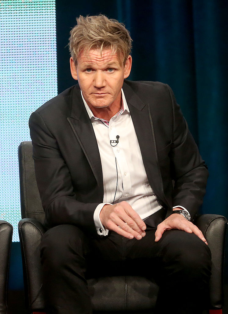 "Gordon Ramsay speaks onstage during the ""Junior MasterChef"" panel discussion"