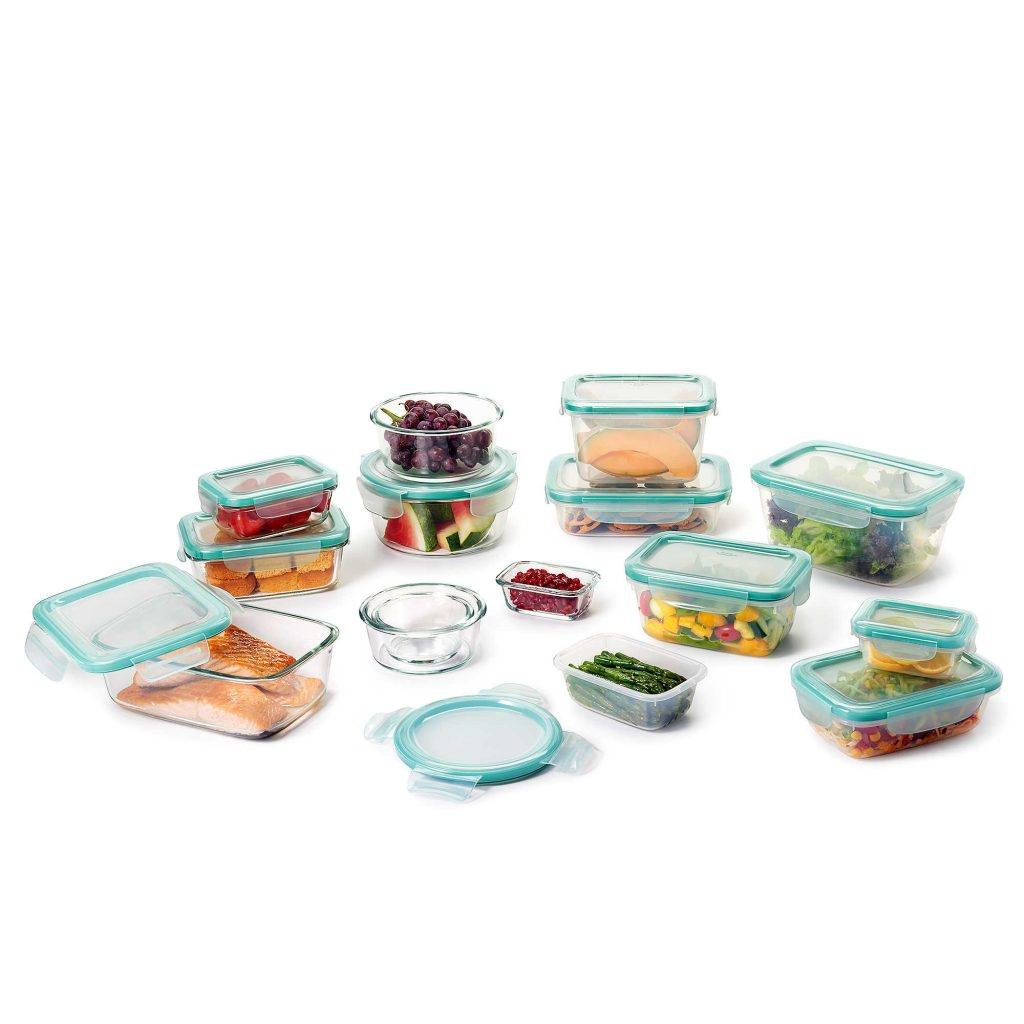 OXO Good Grips 30-Piece Glass/Plastic Food Storage Container Set