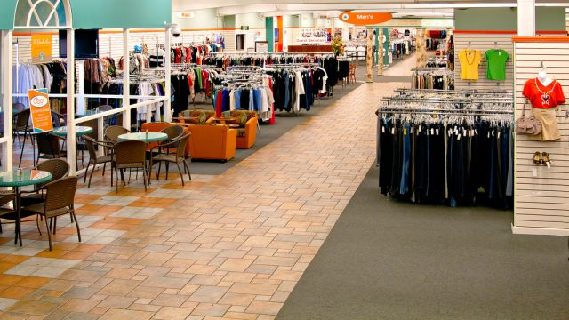 retail floor at Unclaimed Baggage Center