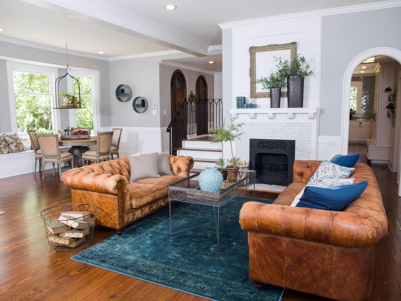 A living room on HGTV's 'Fixer Upper'