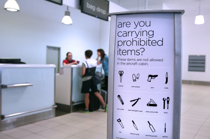 Airport security - prohibited and restricted baggage items