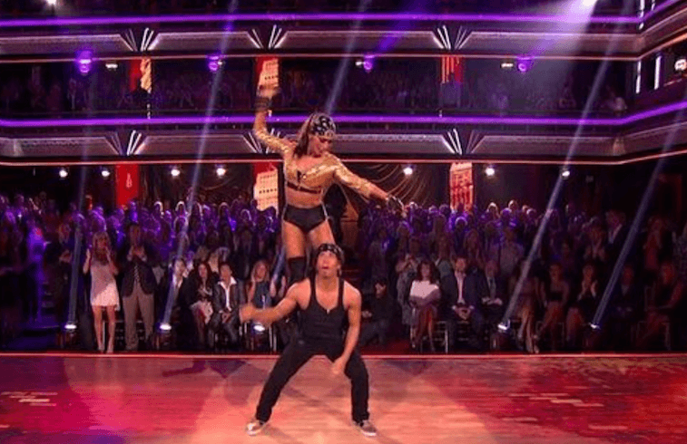 Apolo Anton Ohno and Karina Smirnoff on 'DWTS'
