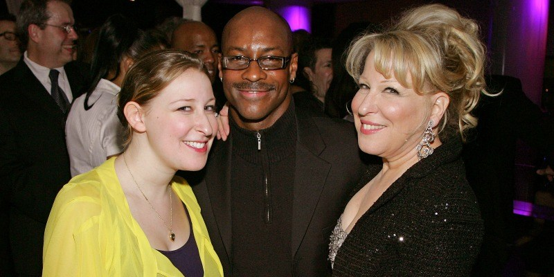Bette Midler, Sophie Von Haselberg, and Sonny Emery pose together at a party.