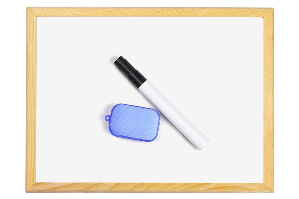 Black Marker Pen and Eraser