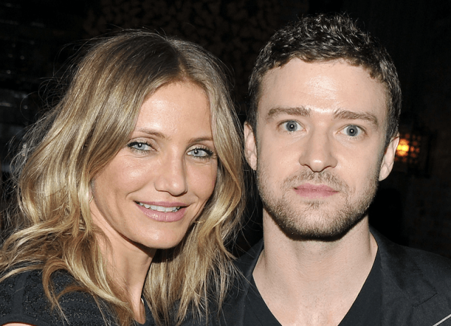 Cameron Diaz and Justin Timberlake pose together for a photo.