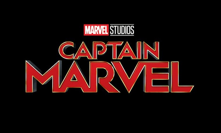 Captain Marvel logo on black background