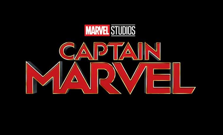 Captain Marvel logo on black background
