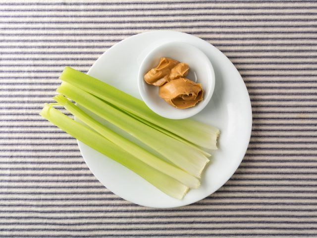Celery and a side of almond butter.