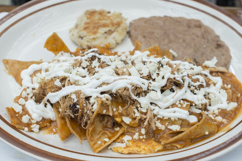 Chilaquiles Mexican breakfast dish