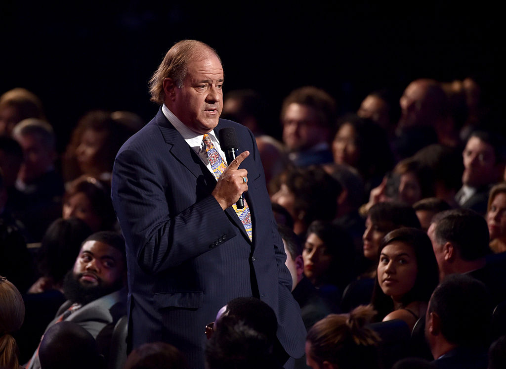 Sportscaster Chris Berman speaks in the audience during The 2015 ESPYS