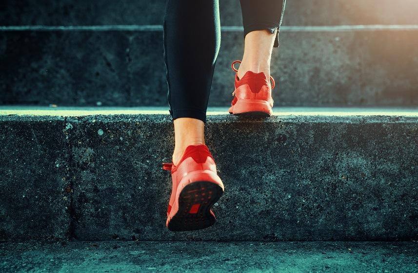 shot of runner's shoes