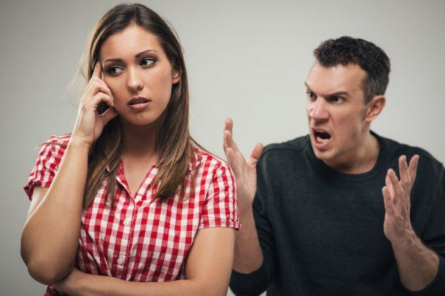 A couple gets loud during an argument.