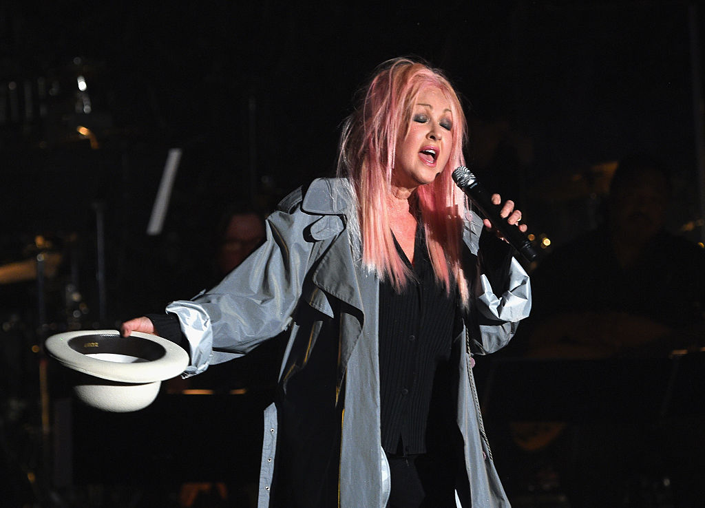 Singer-songwriter Cyndi Lauper performs onstage