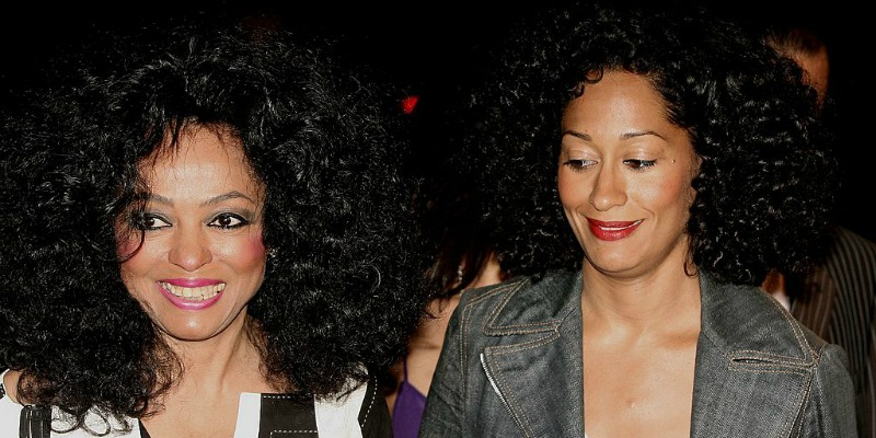 Dianna Ross and Tracee Ellis Ross stand next to each other.