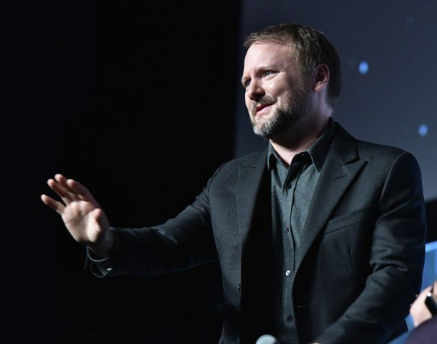 Director Rian Johnson at a panel discussion for Star Wars Celebration Day.