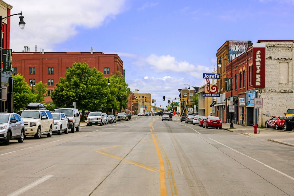 Downtown Fargo city in North Dakota