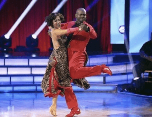 Emmitt Smith and Cheryl Burke on DWTS