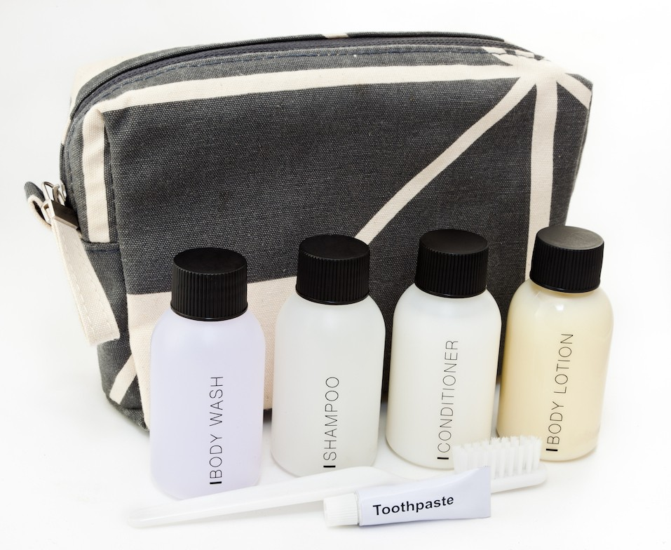 Essential travel toiletries