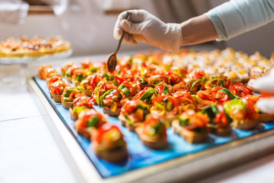 Final touch for tasty canapes