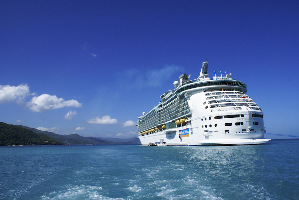 cruise ship Freedom of the seas anchored in Labadee