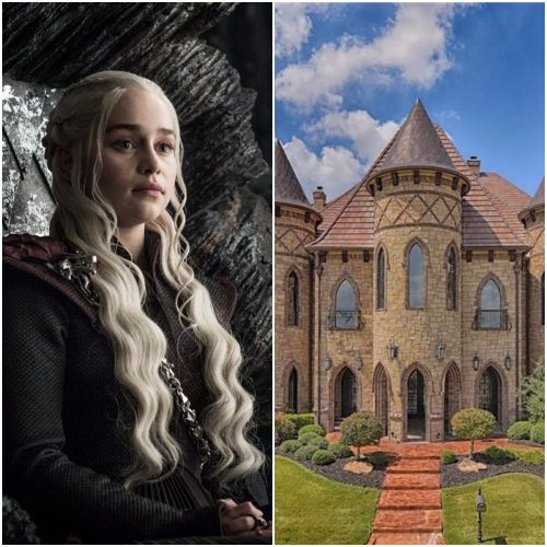 Left: Daenerys Targaryen, Right: Castle