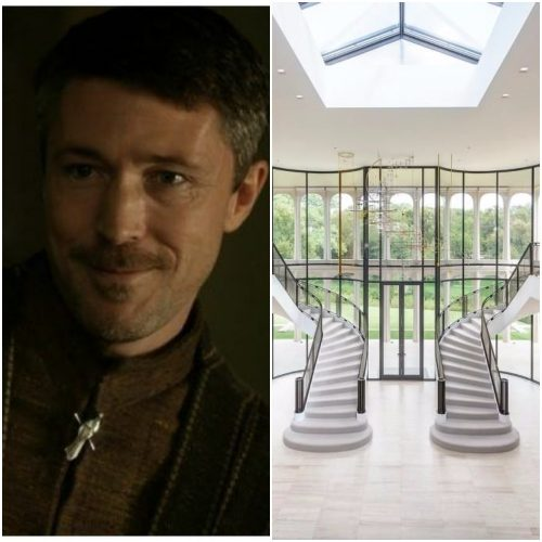 Left: Petyr Baelish, Right: Modern mansion