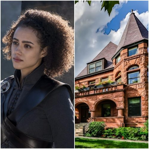 Left: Missandei, Right: Chicago Victorian mansion
