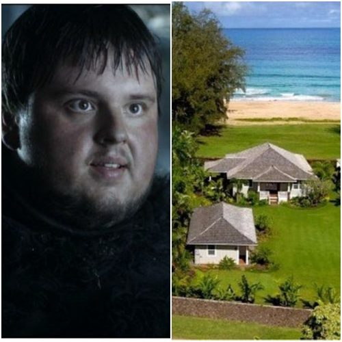 Left: Samwell Tarly, Right: Hawaiian retreat