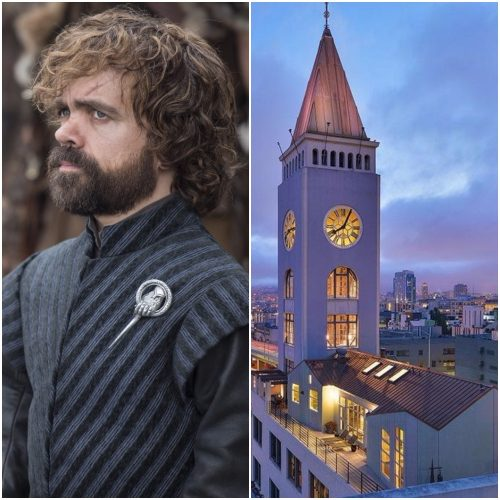 Left: Tyrion Lannister, Right: Clock tower home