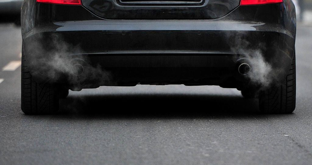 Waste gas comes out of an exhaust pipe of a car on December 01, 2010 in Berlin.