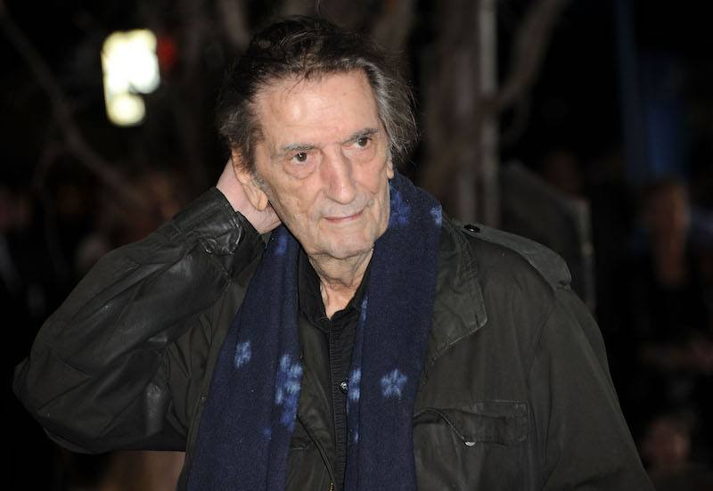 """Harry Dean Stanton arrives at the premiere of Paramount Pictures' """"Rango"""" at Regency Village Theater on February 14, 2011 in Los Angeles, California."""