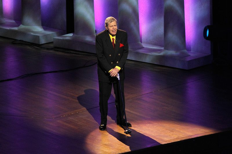 Comedian Jerry Lewis speaks onstage at The Lincoln Awards