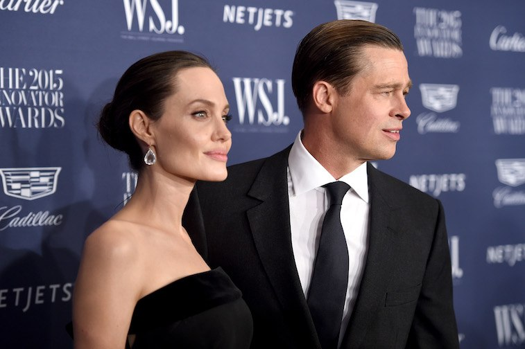 Angelina Jolie Pitt (L) and Brad Pitt attend the WSJ. Magazine 2015 Innovator Awards at the Museum of Modern Art