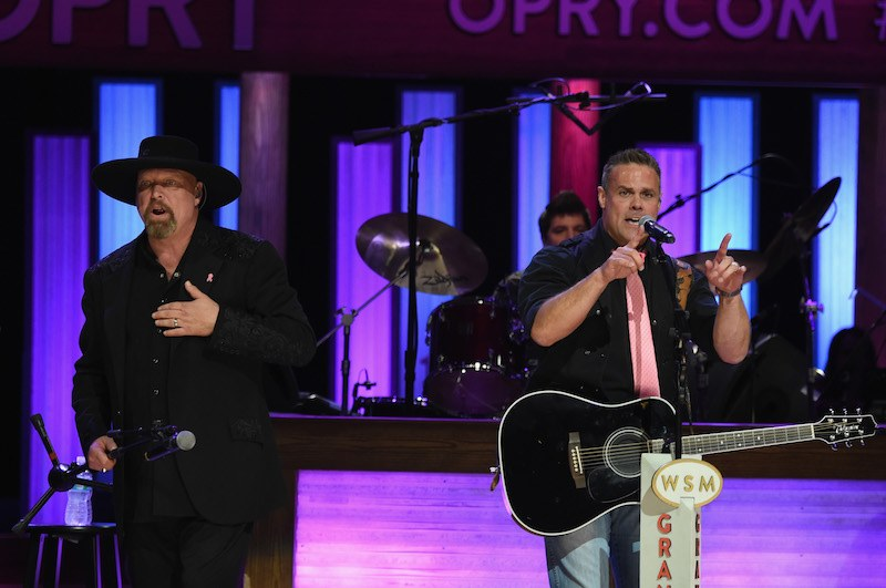 Eddie Montgomery and Troy Gentry (Montgomery Gentry) perform at Jason Aldean's 11th Annual Event