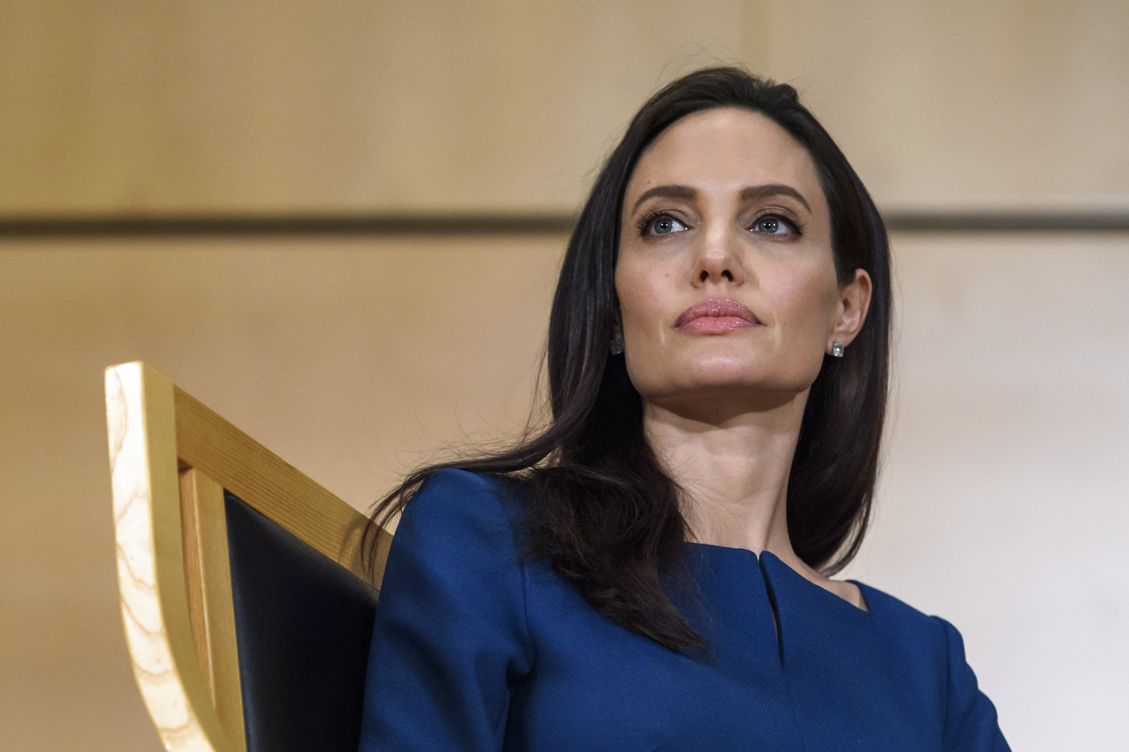 Angelina Jolie attends the annual lecture of the Sergio Vieira de Mello Foundation at United Nations