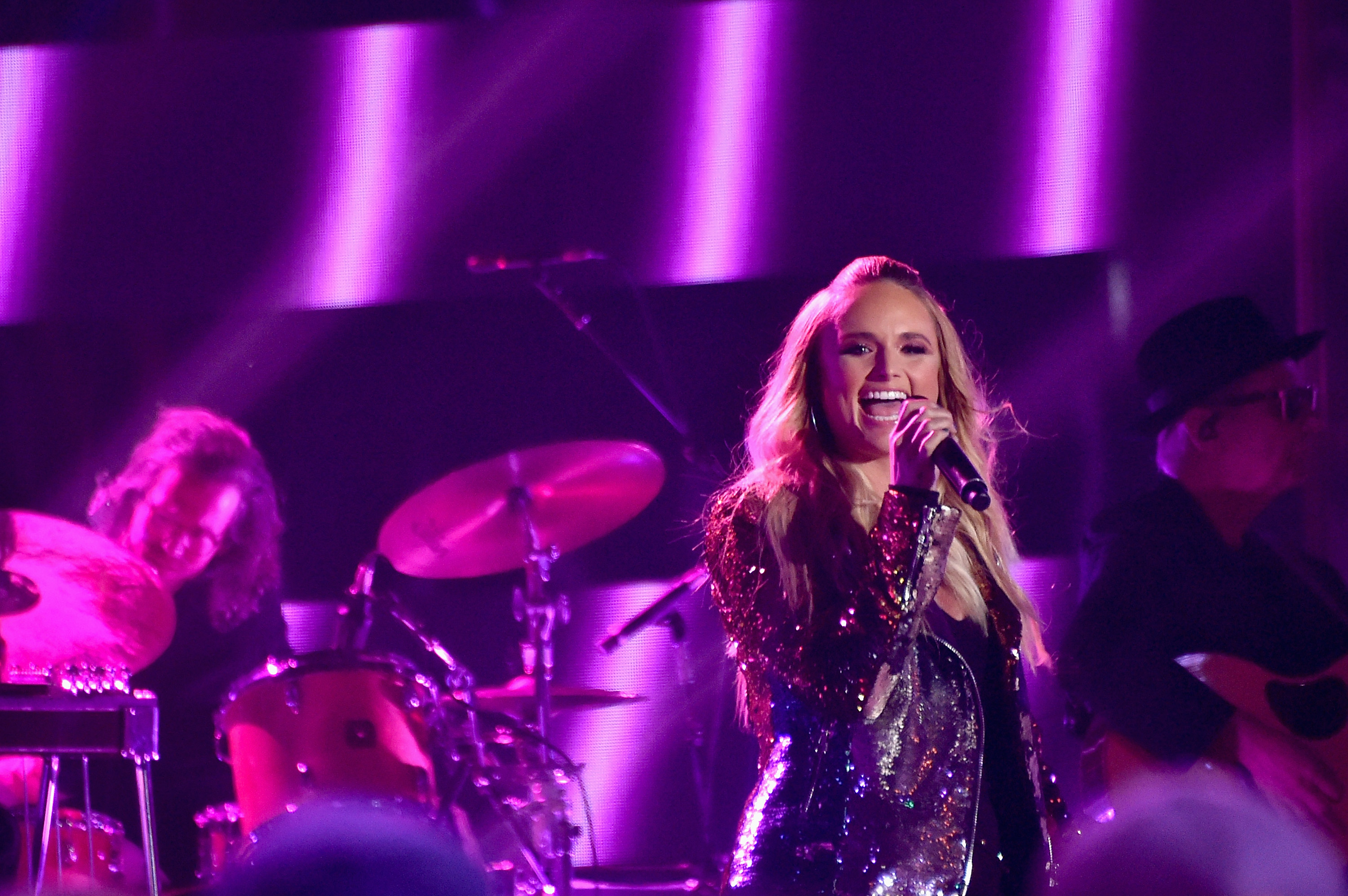 Miranda Lambert perfroms Pink Sunglasses onstage during the 2017 CMT Music Awards at the Music City Center