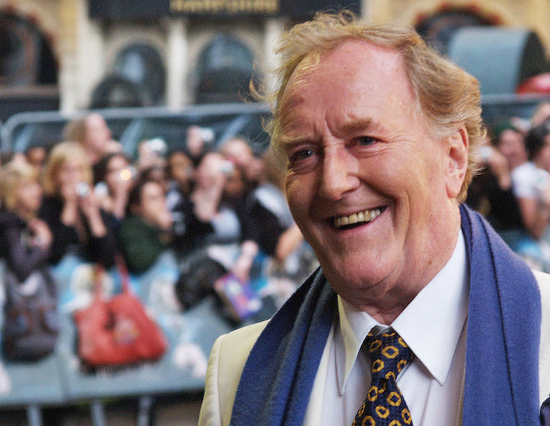 Robert Hardy arrives in London's Leicester Square