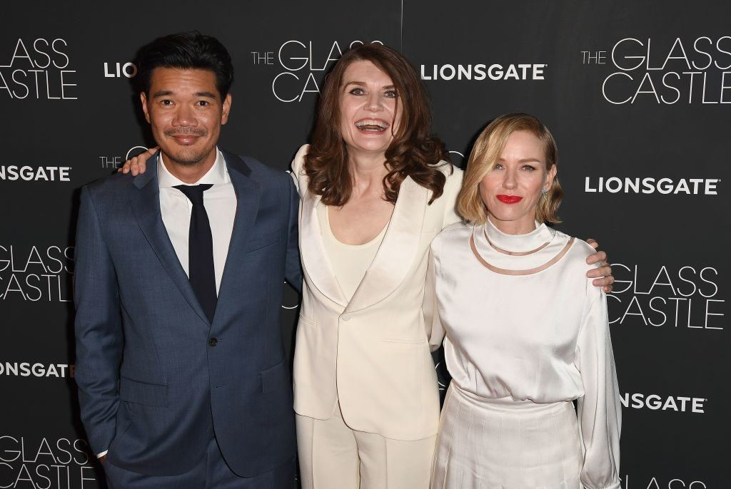 Director Destin Daniel Cretton, author Jeanette Walls, and actress Naomi Watts attend 'The Glass Castle' New York screening