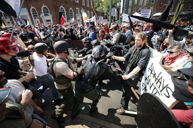 Violence erupts at the Unite the Right rally in Charlottesville