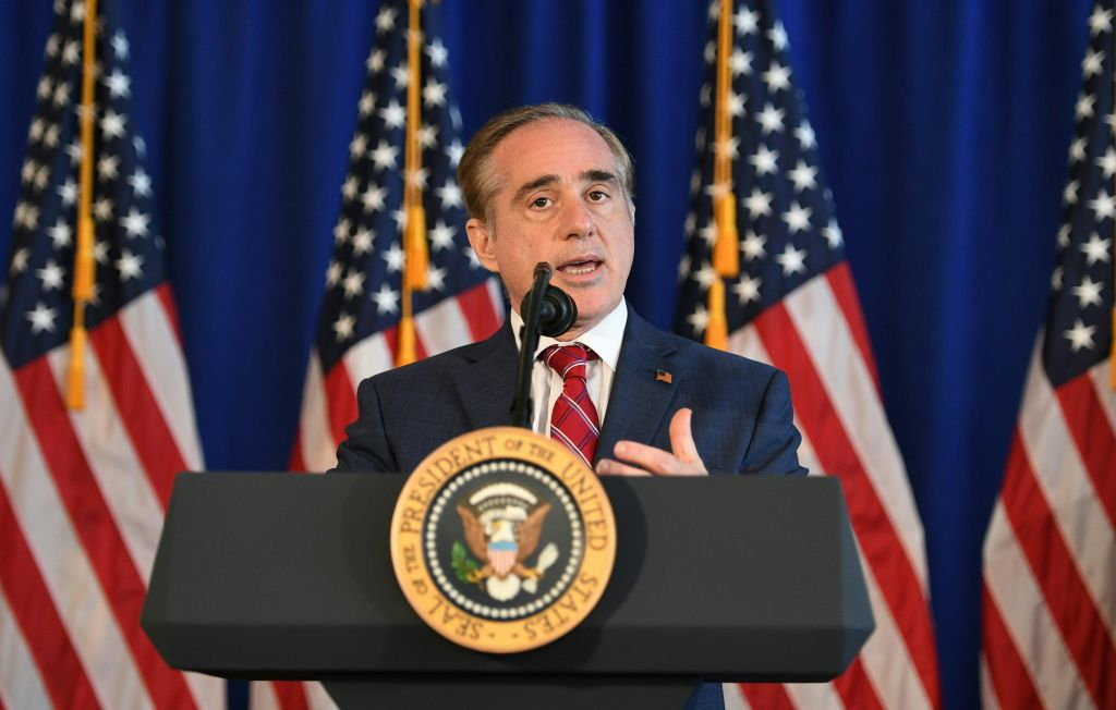 US Secretary of Veterans Affairs David Shulkin