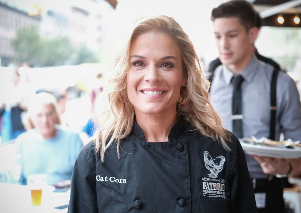 Chef Cat Cora attends the Grand Opening Of Fatbird Restaurant