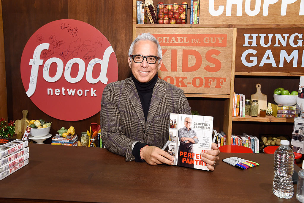 """Chef Geoffrey Zakarian signs copies of his book """"My Perfect Pantry"""" at the Grand Tasting"""
