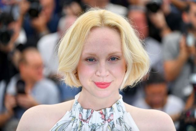 Gwendoline Christie poses at the Cannes Film Festival in France.