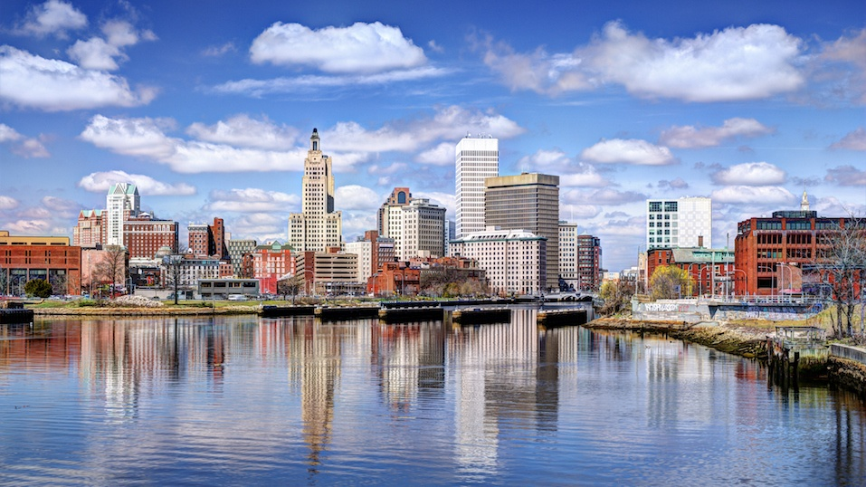 Harbor view of Providence, Rhode Island